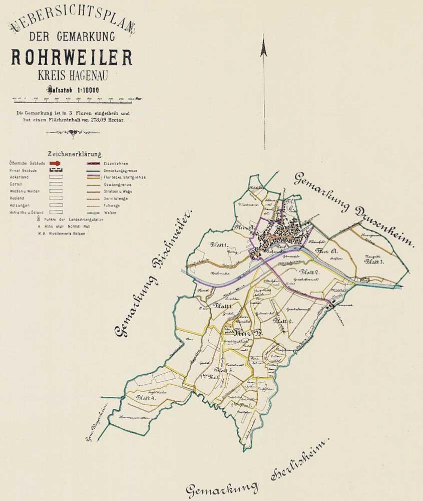 Cadastre de Rohrwiller au 19ème siècle